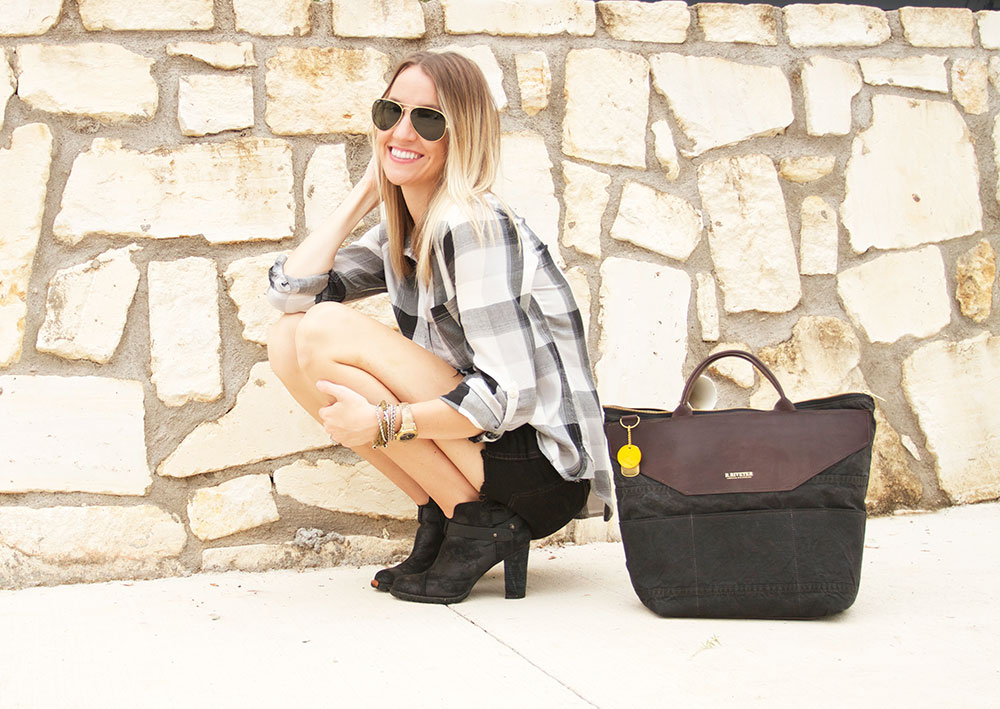 big plaid & r. riveter bag
