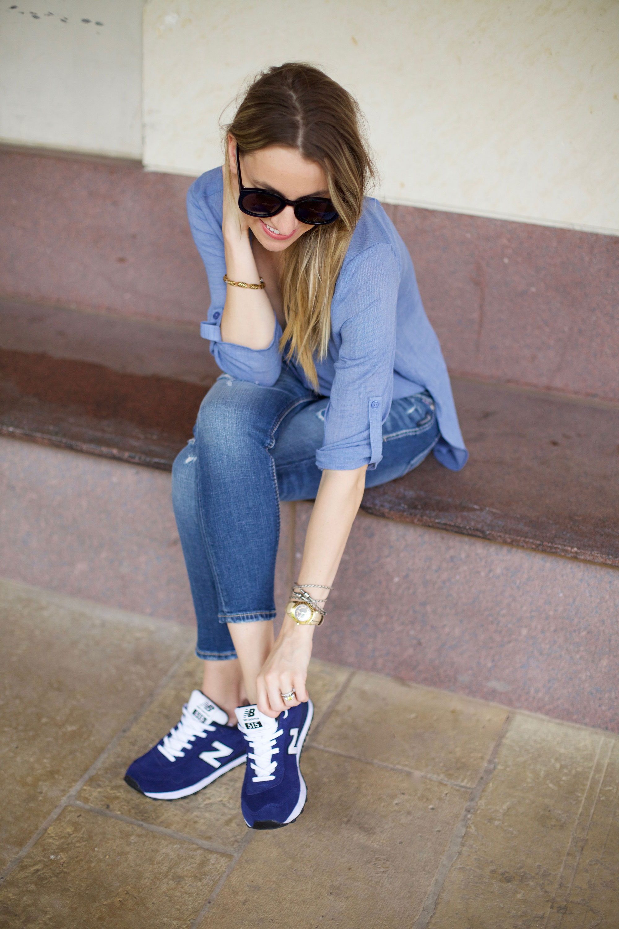 all blue look