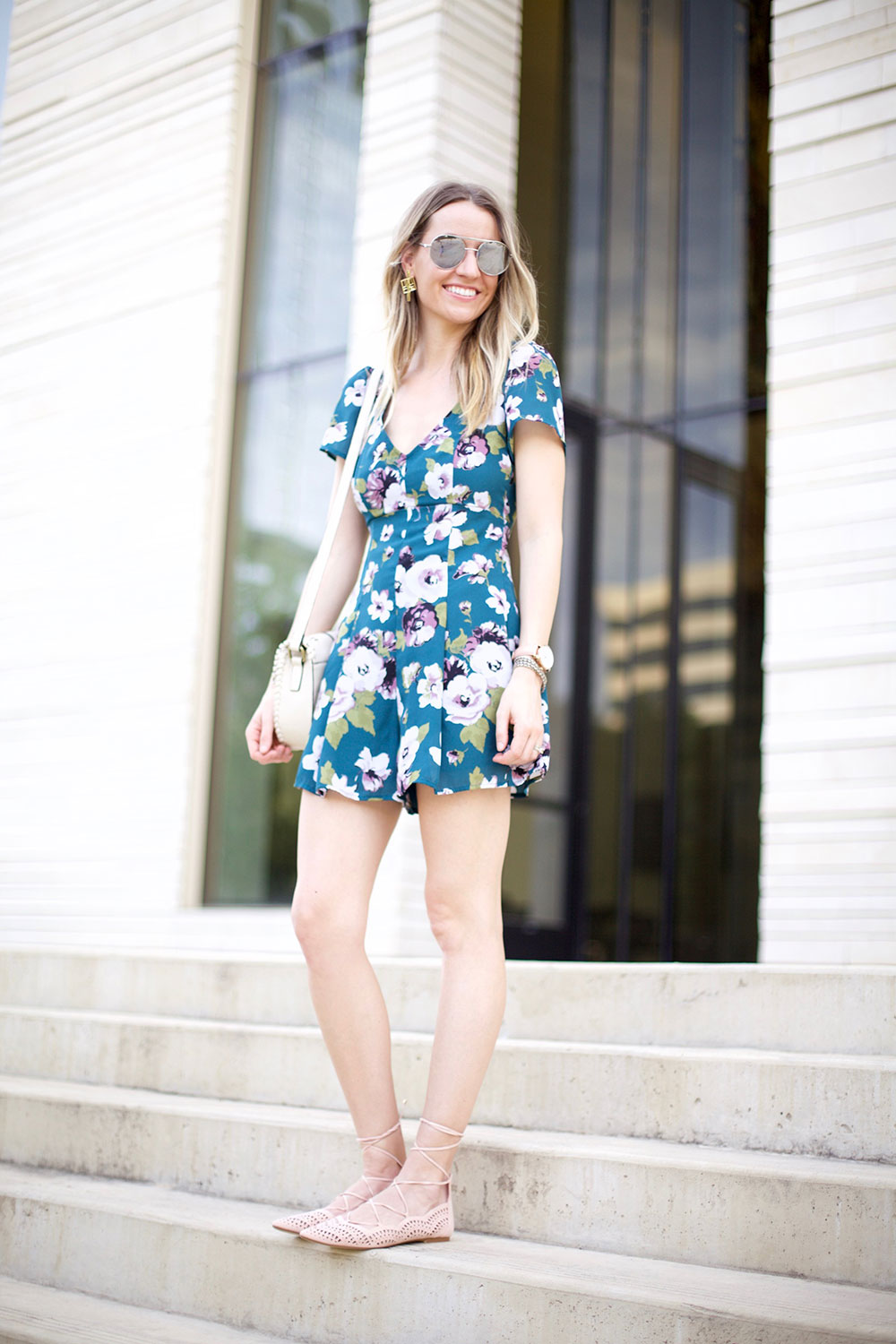 06e5a25319 ... Floral Rompers for Spring by Austin fashion blogger Life By Lee ...