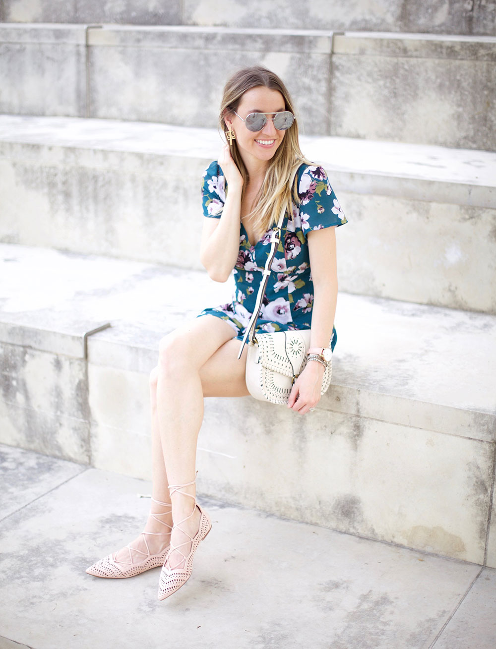 Floral Rompers for Spring by Austin fashion blogger Life By Lee