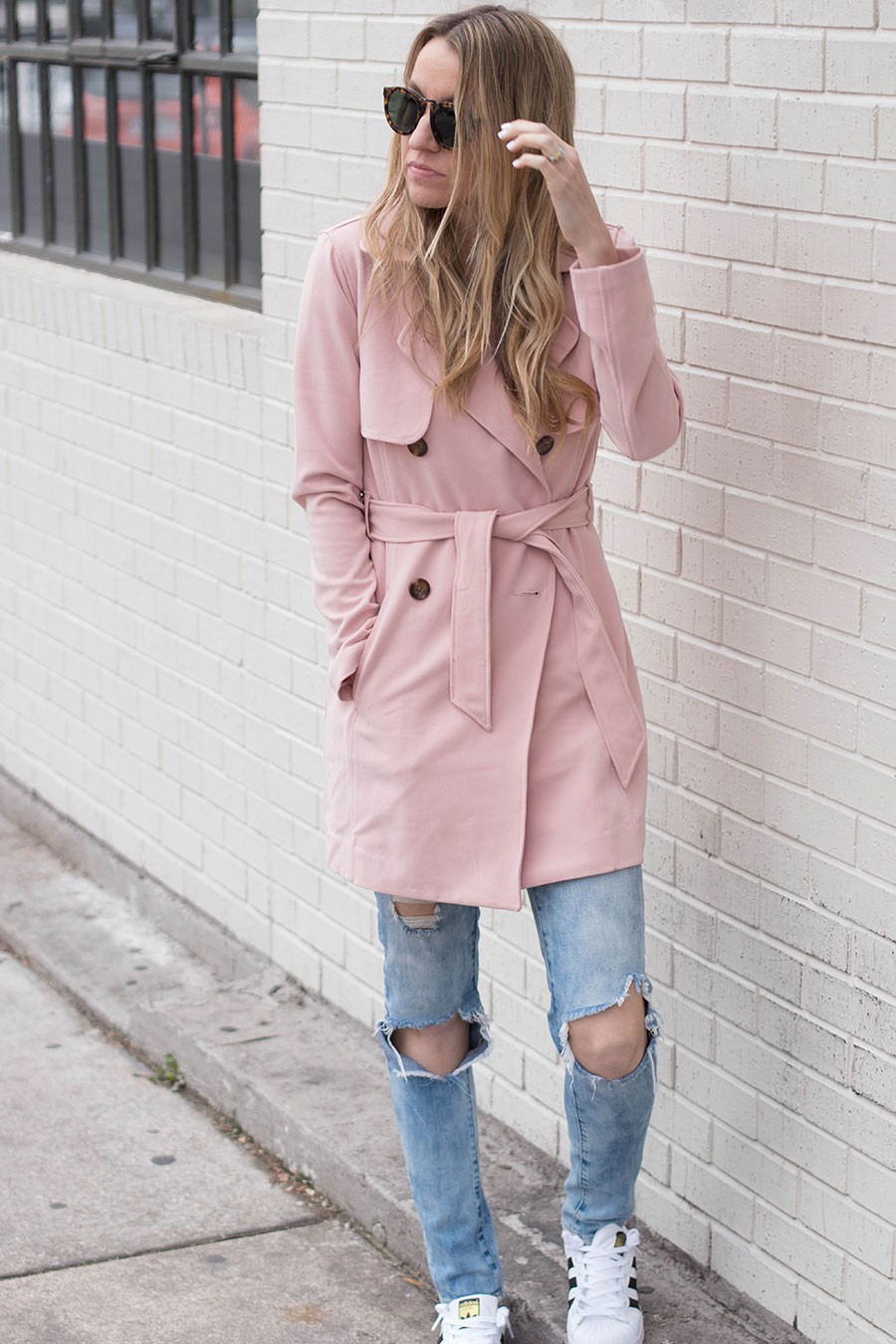 blush pink valentines's day outfit inspiration