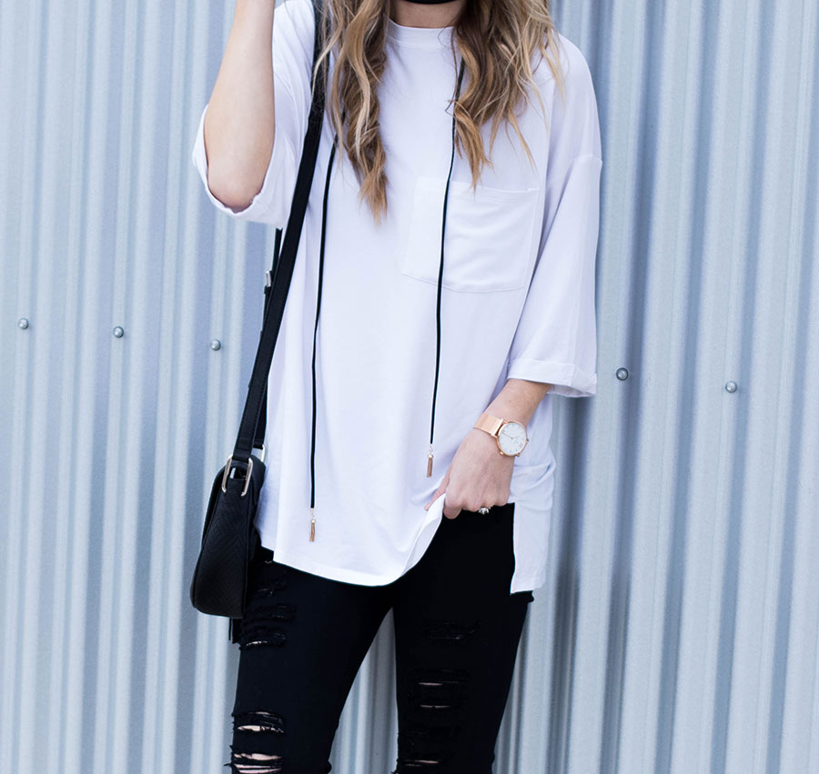 black and white cozy chic