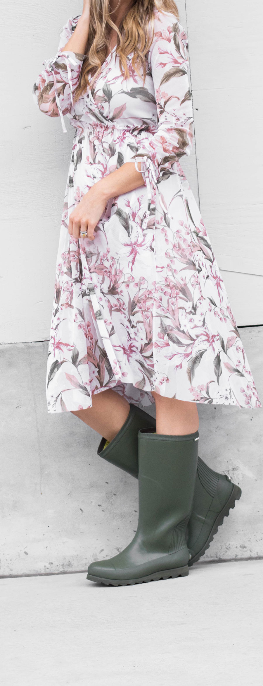 81059391debfa Rain Boots With A Floral Dress- Life By Lee