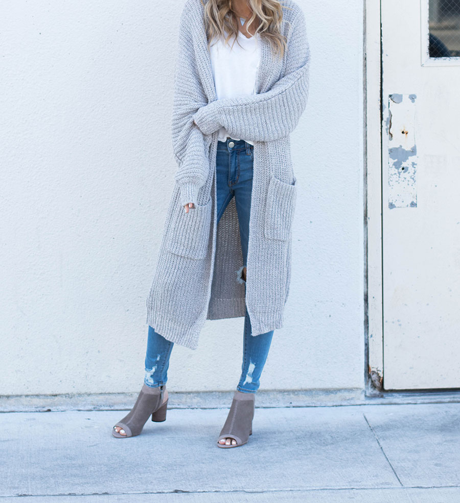 My Cozy Cardigan by fashion blogger Life By Lee