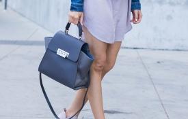 Comfy Shift Dress & A Classic Denim Jacket