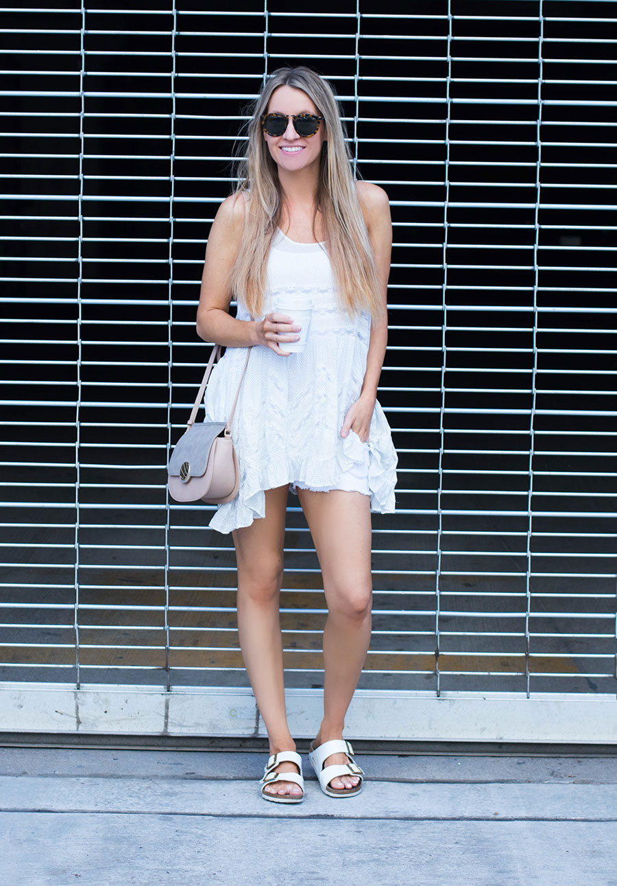 aeb2bb222be White Free People Tunic and Denim Shorts- Life By Lee