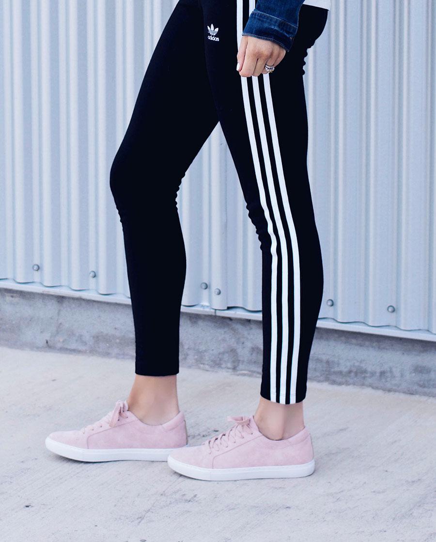 blush pink sneakers