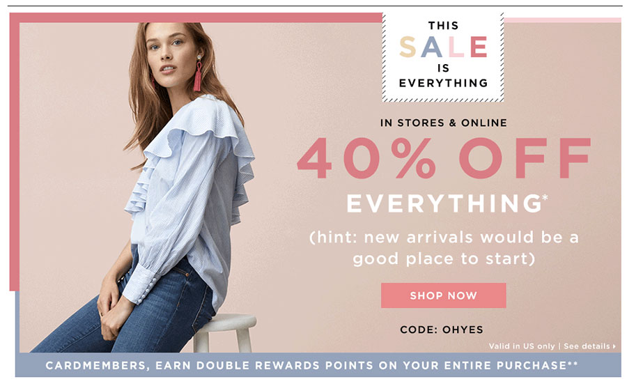 LOFT 40% off everything sale