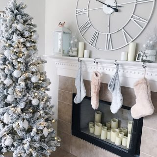blush pink Christmas decor