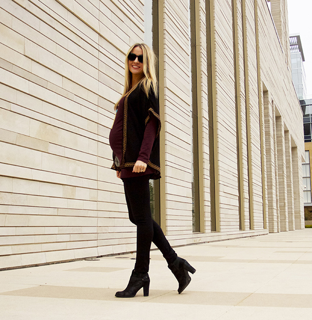 Maternity Style: BLACK AND BURGUNDY