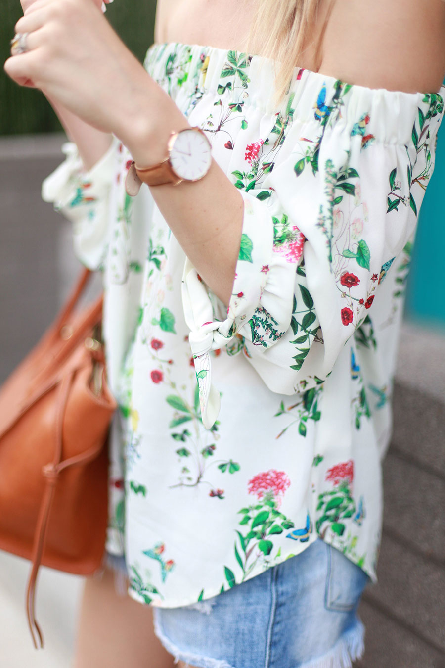 Floral Off The Shoulder Top by Austin fashion blogger Life By Lee