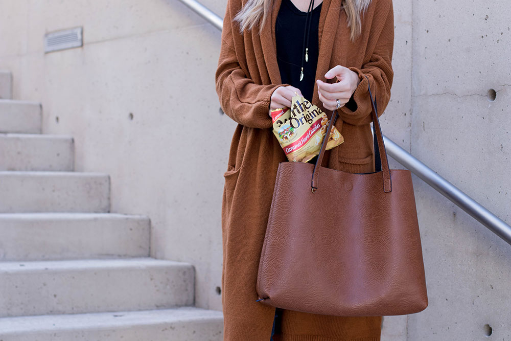 caramel colored accessories for fall