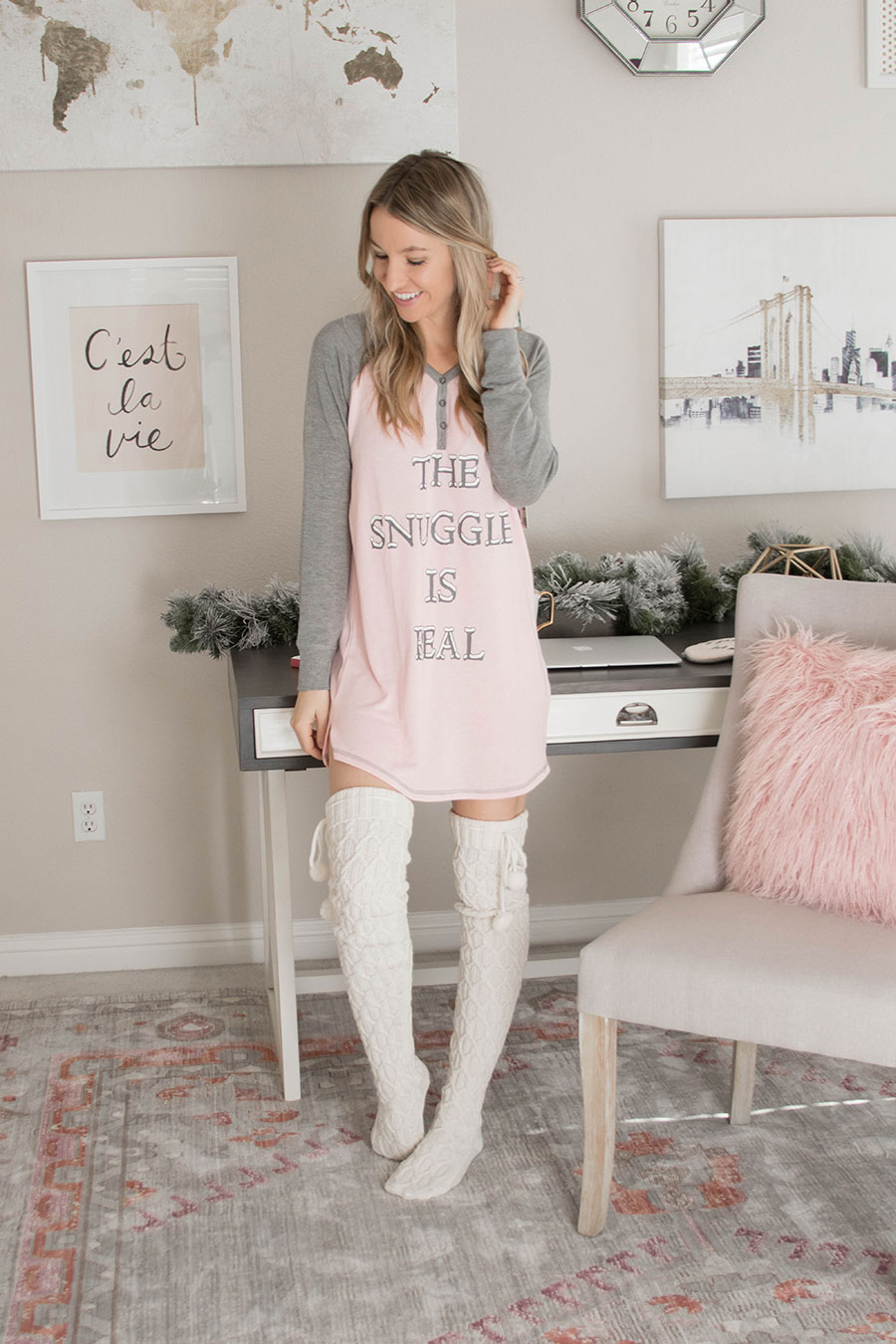 Cute Christmas Pajamas Under $50 by fashion blogger Life By Lee