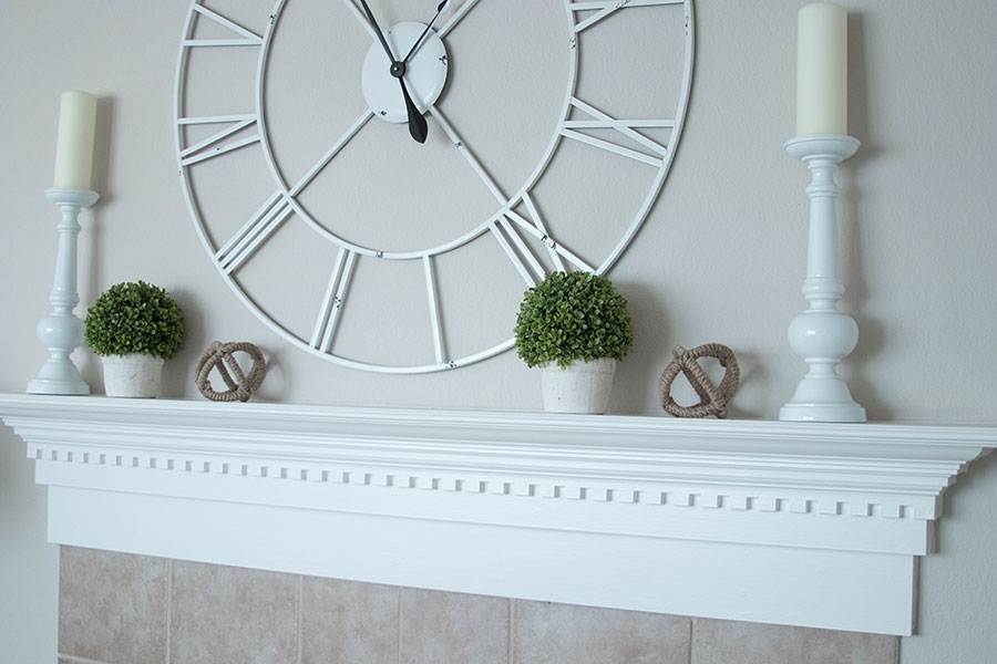 decorate fireplace mantle