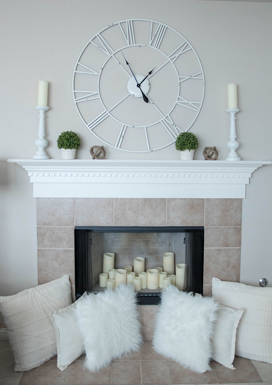 How To Decorate A Loft Living Room Upstairs: How To Decorate A Fireplace Mantle For Spring- Life By Lee
