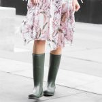 Rain Boots with A Floral Dress