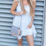 White Free People Tunic and Denim Shorts