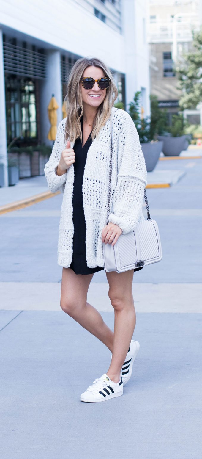 The Comfiest Cardigan Ever and Possible Contractions?
