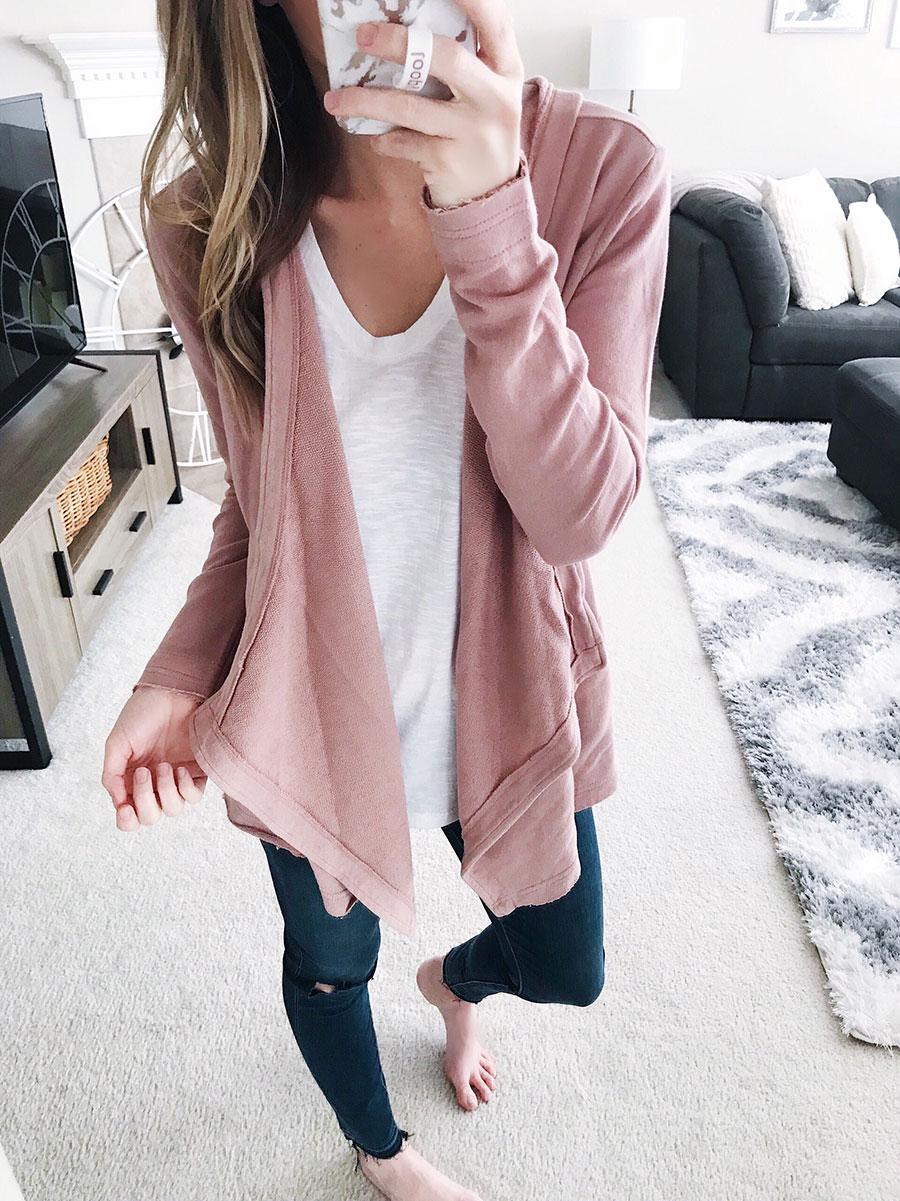 drape knit cardigan
