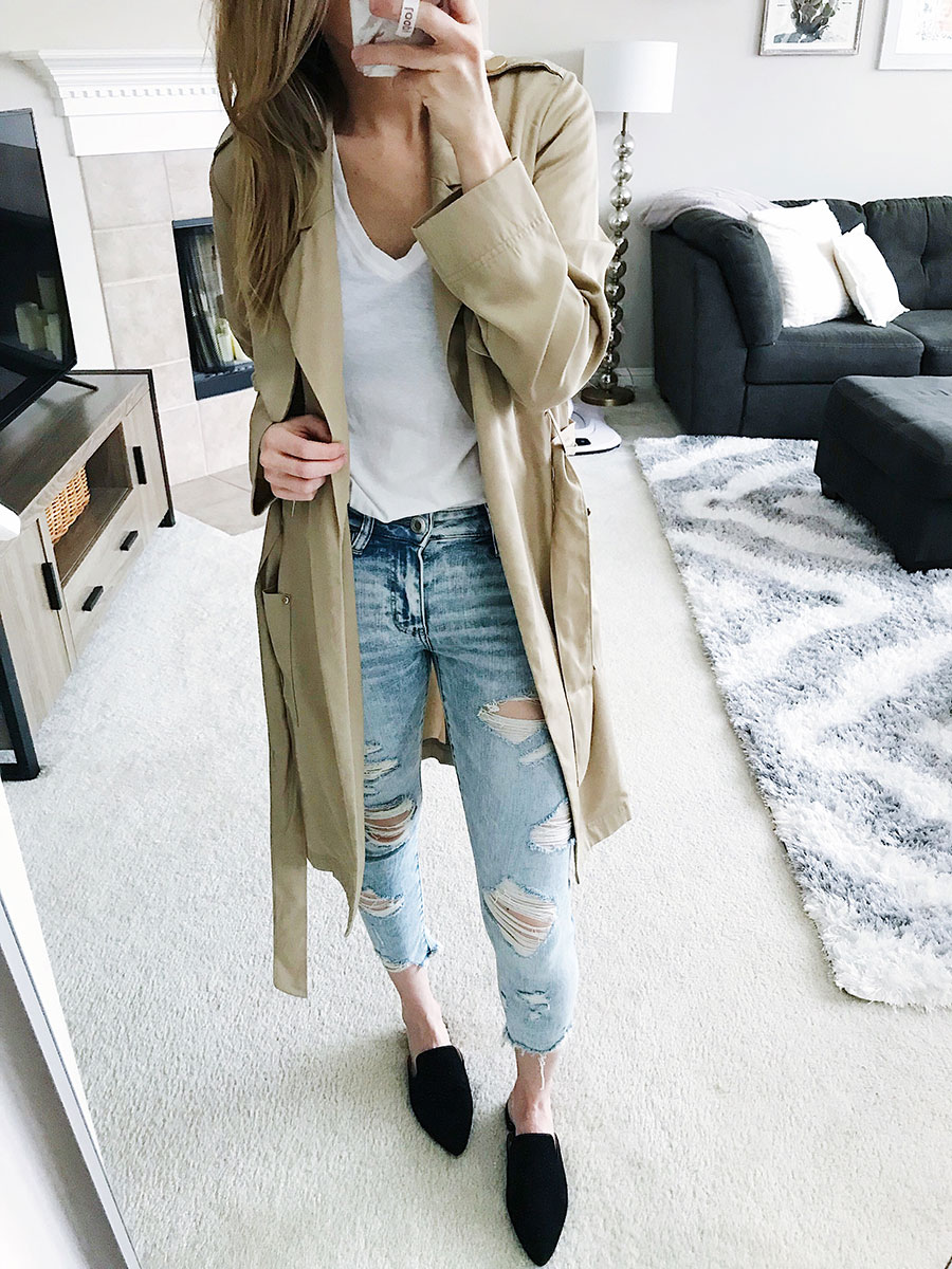 how to style a trench coat for spring