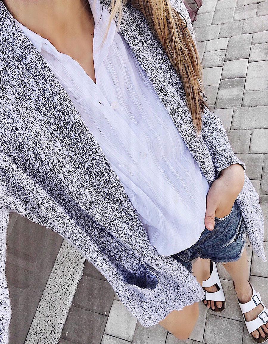 Abercrombie slub yarn cardigan