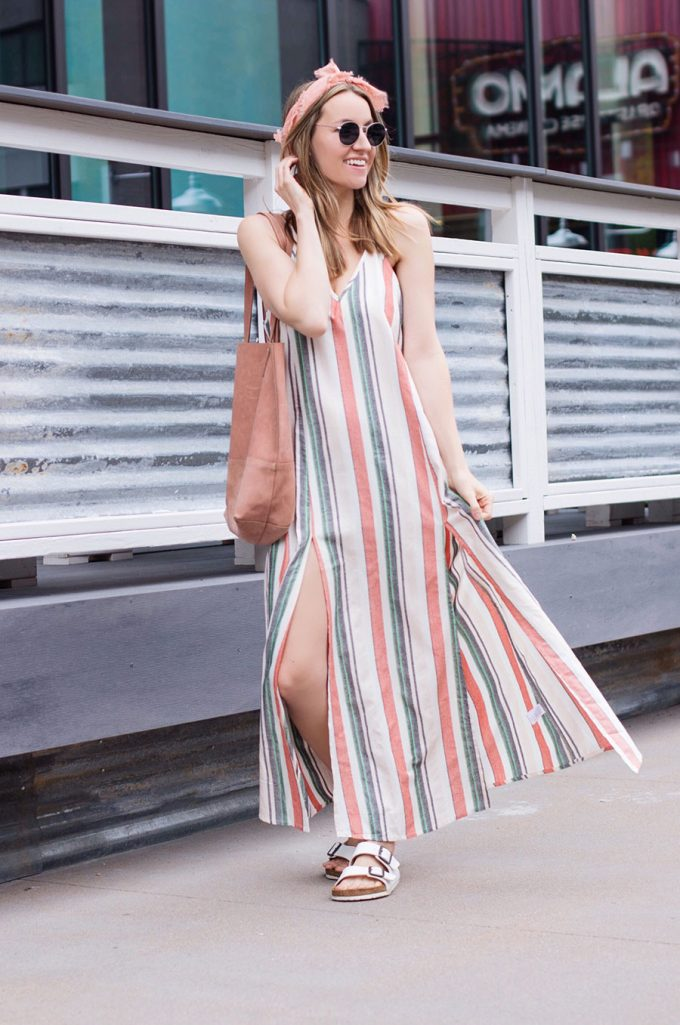 The Cutest Striped Maxi + House Renovation Update