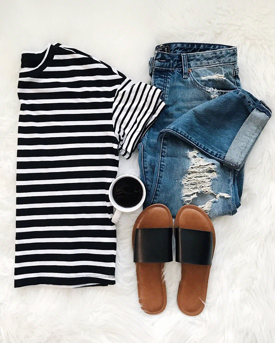 Nordstrom BP Mixed Stripe Tee