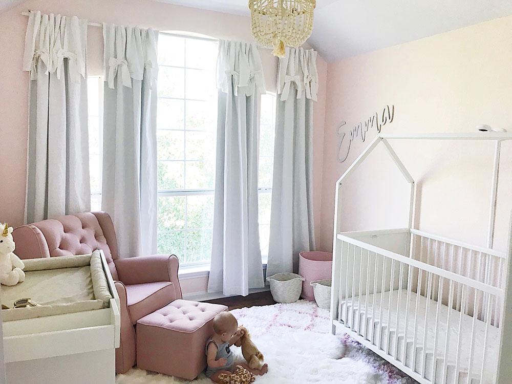 Blush Pink Nursery Tour