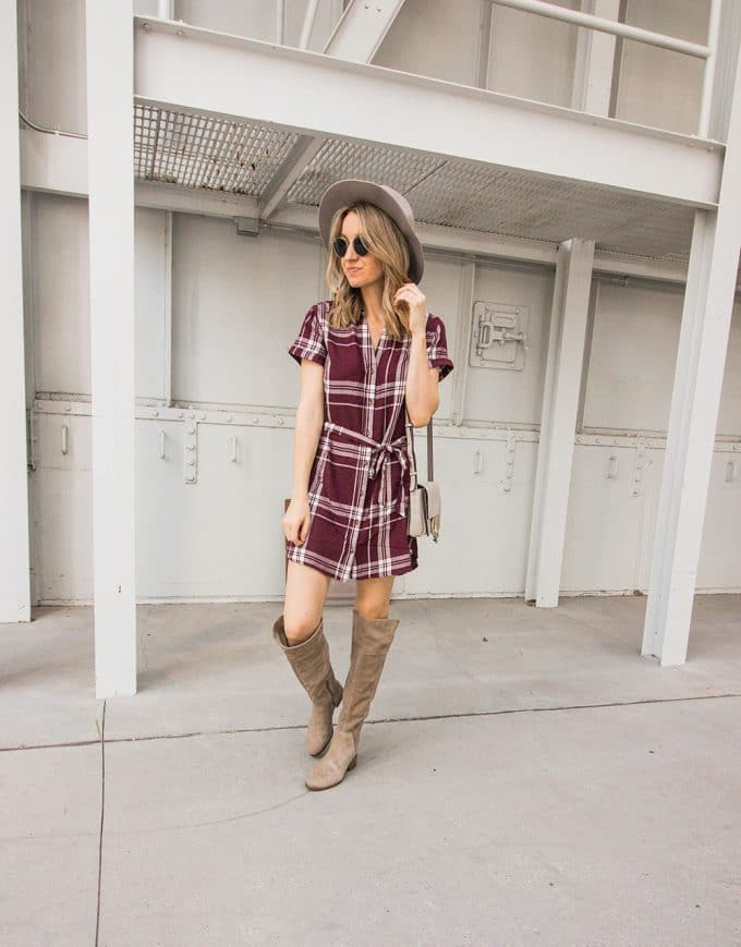 The Comfiest Plaid Dress & Travel Plans