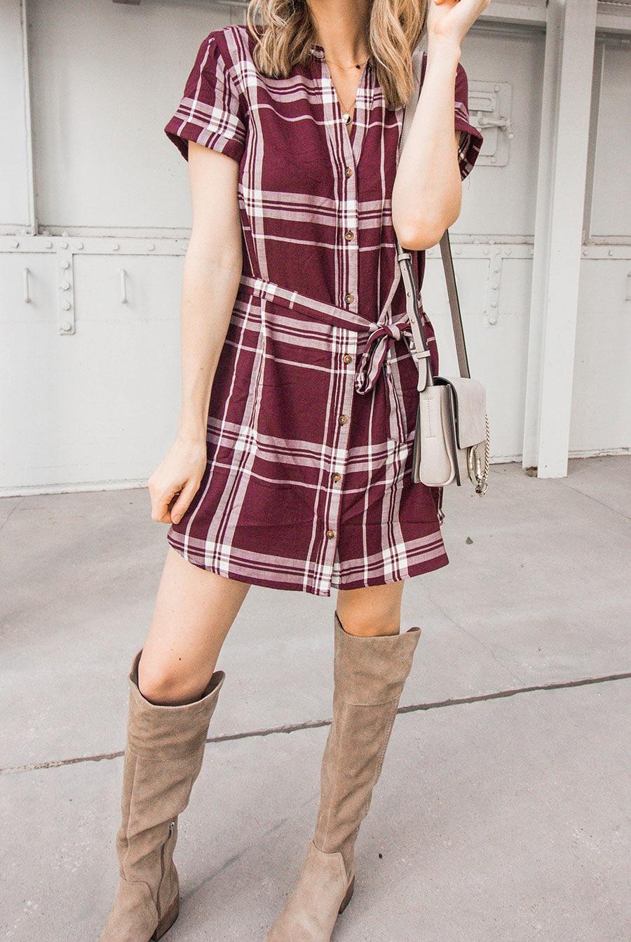 comfiest plaid dress