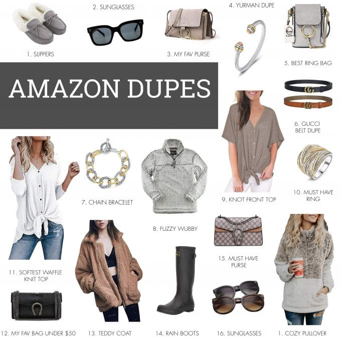 My Favorite Amazon Designer Dupes