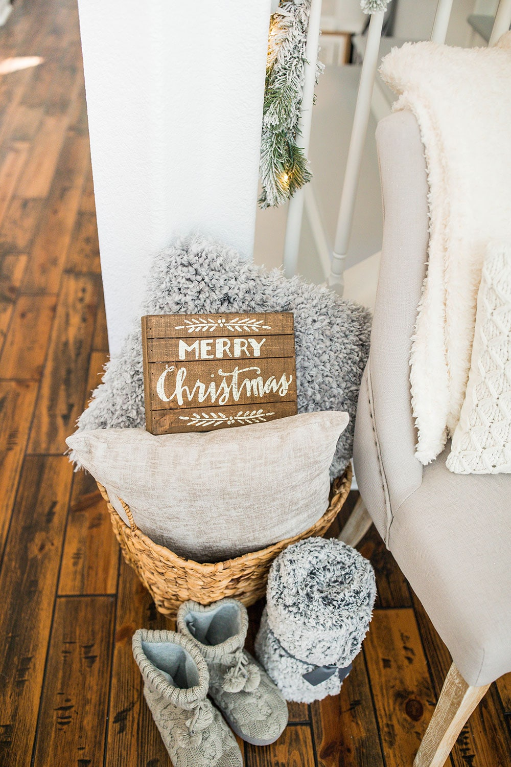affordable flocked christmas trees