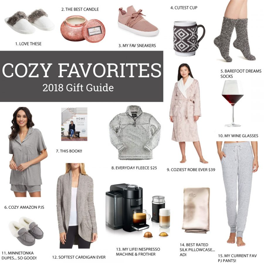 Gift Guide 2018 Cozy Favorites