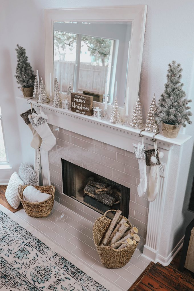 My Christmas Mantle Decor & New Fireplace