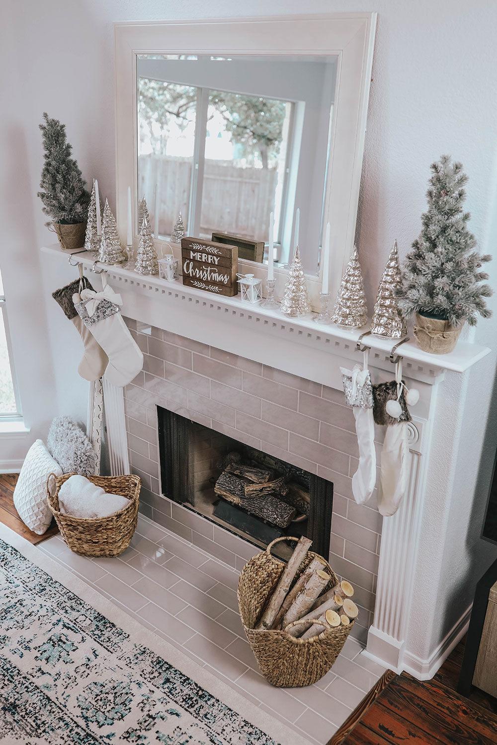 Christmas Mantle.My Christmas Mantle Decor New Fireplace Life By Lee