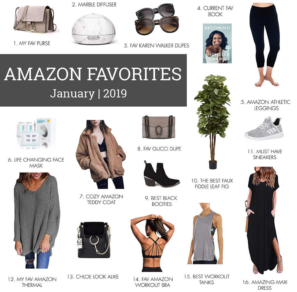 JANUARY MONTHLY AMAZON FAVORITES