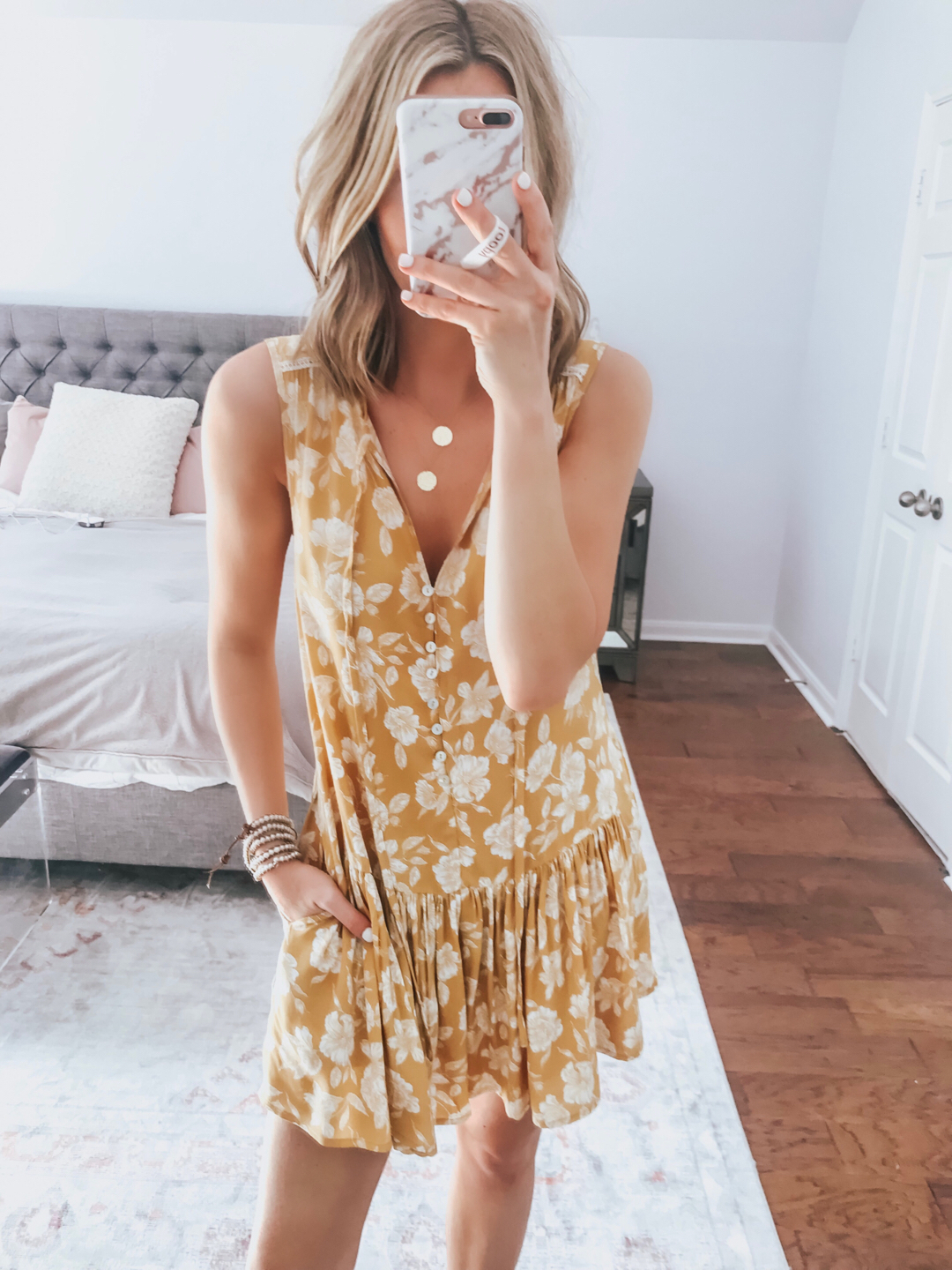 65a17d0d16b I m in LOVE with this yellow floral romper!! It s so comfortable and even  has pockets! Love that its a romper and it s such a good length.