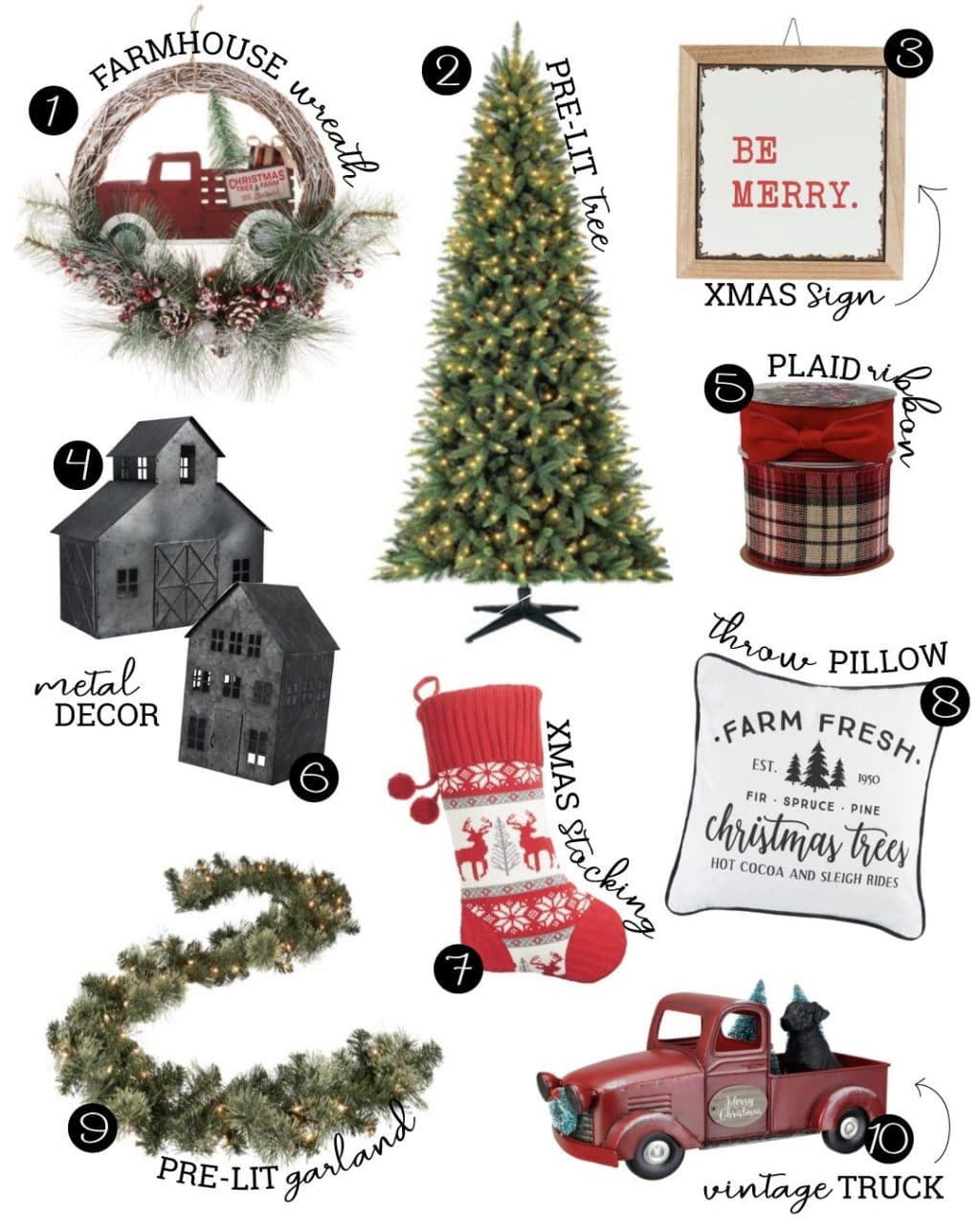 farmhouse holiday decor