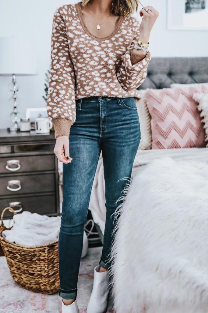 leopard abercrombie sweater