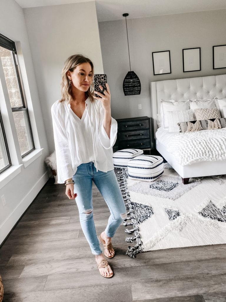 walmart white blouse